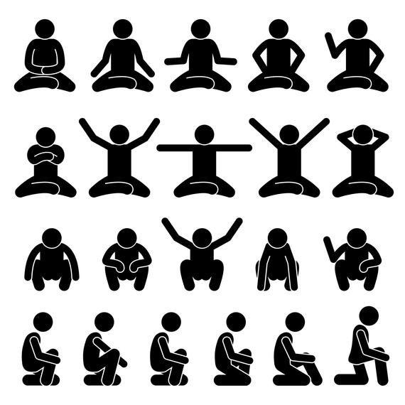 Stick Figure Stickman Stick Man People Person Poses Postures Sitting Sit Down Squat Body Languages Pictogram Download Icons Png Svg Vector Stick Figures Stick Figure Drawing Silhouette People