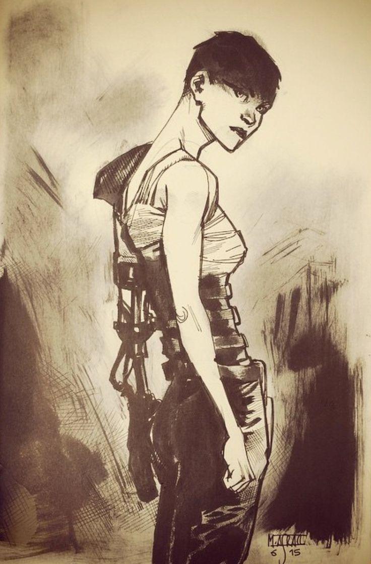 Imperator Furiosa - Mad Max: Fury Road - Mahmud Asrar . Character Sketch / Drawing
