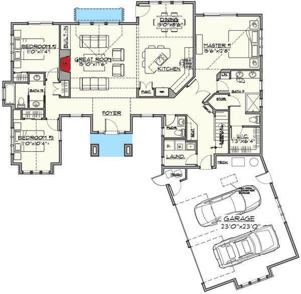 17 best ideas about rambler house plans on pinterest for Rambler floor plans with bonus room