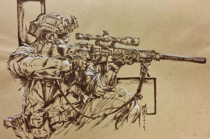 его военные рисунки снайпер правильно утеплить пластиковые