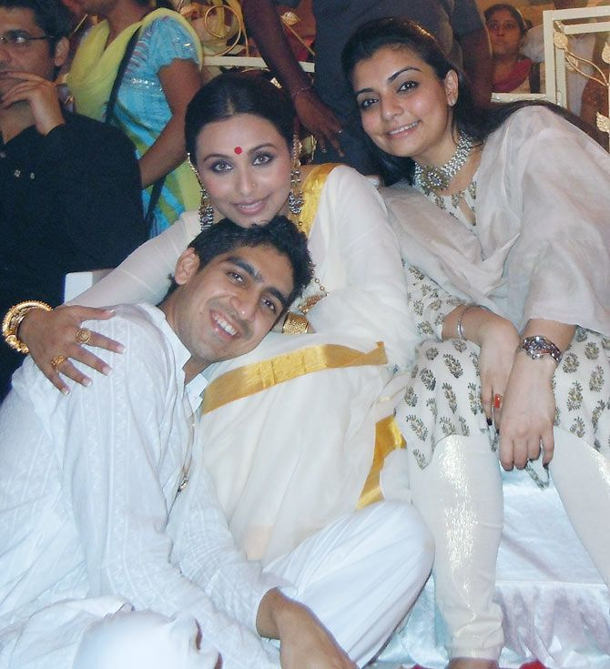 When Rani, Ayan Mukerji, Kajol celebrated Durga Puja .