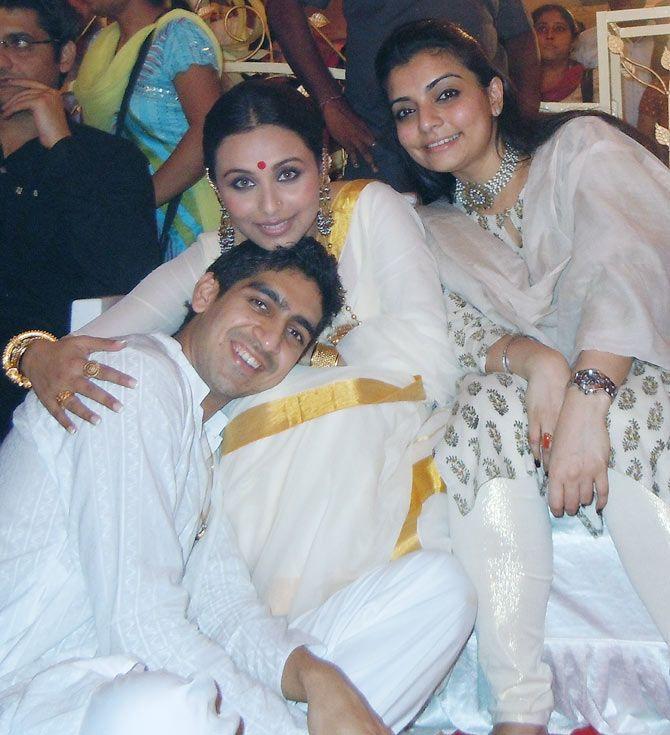 When Rani, Ayan Mukerji, Kajol celebrated Durga Puja .