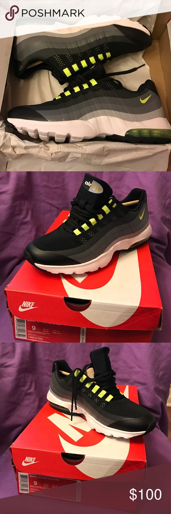Brand new Wmns Air Max 95 New never worn women's Nike Air Max 95. Size 9. Colors black, gray and volt Nike Shoes Athletic Shoes