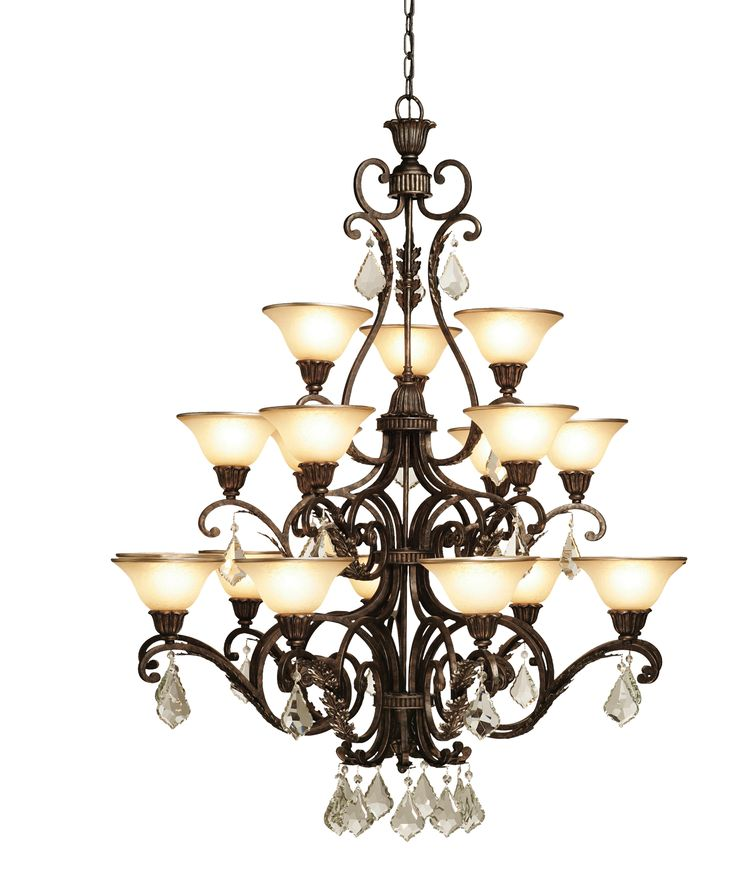 artcraft florence 44 inch wide 18 light chandelier - Foyer Chandeliers
