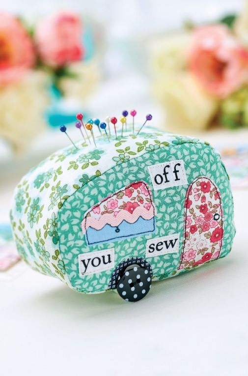 Caravan Patchwork Pincushion & Suitcase Tag Templates - Free Card Making Downloads | Stitching | Digital Craft – Crafts Beautiful Magazine