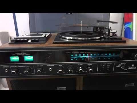 Demonstração 3 em 1 National ss8000 aparelho de som vintage toca discos Benhur Kopper Carazinho - YouTube