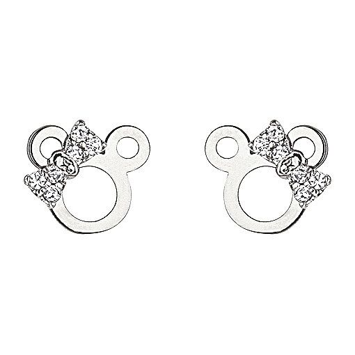 Silver Stud Minnie Mouse Screwback Earring for Babies, Children, Girls and Women.. $17.99, via Etsy.