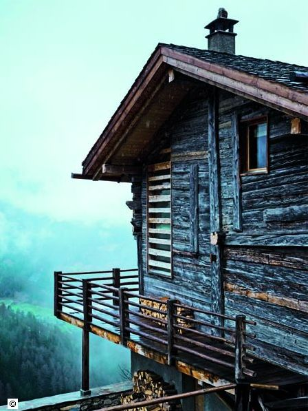 brown dress with white dots: Wood Cabins, Mountain Cabins, Cabins Life, Solar Panels, The View, Swiss Alps, Cabins Fever, Logs Cabins, Modern Interiors