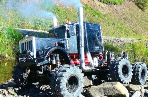 DJ Medic's 6x6 on RC SPARKS has 4 brushless motors,   sound-system, working smoke stacks and sooo much more.