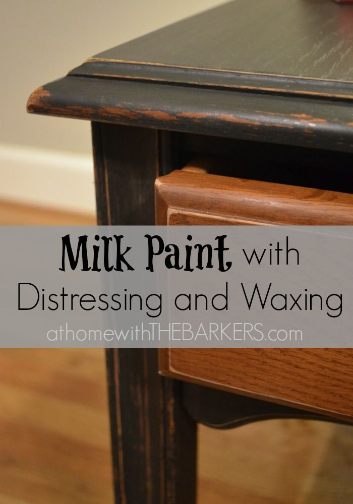 Side table with Milk Paint and distressing