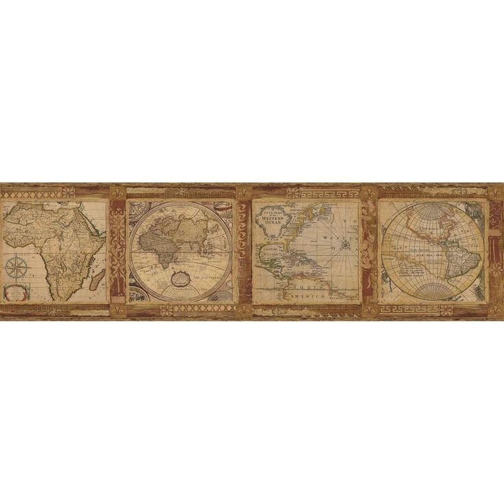 13 best wallpaper border ideas images on pinterest border ideas oliver map wallpaper border burnt sienna gumiabroncs Choice Image
