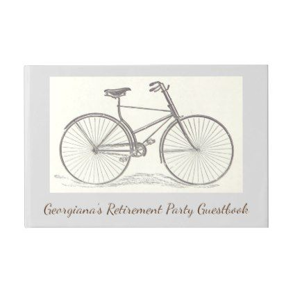 Vintage Old Fashioned Bicycle Depiction Guest Book - traditional gift idea diy unique