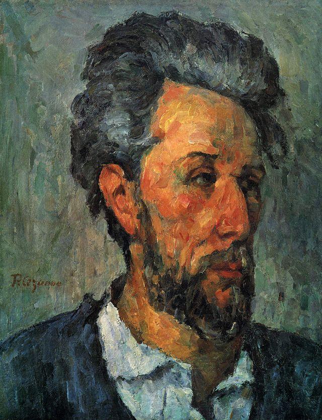 """""""Ritratto di Victor Chocquet"""", Paul Cézanne, 1876-77; olio su tela, 46x36 cm; collezione privata."""