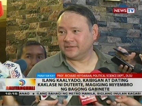 BT: Panayam kay Prof. Richard Heydarian, Political Science Dept., DLSU - WATCH VIDEO HERE: http://www.dutertenewstoday.com/bt-panayam-kay-prof-richard-heydarian-political-science-dept-dlsu/ Subscribe to the GMA News and Public Affairs channel:   Visit the GMA News and Public Affairs Portal:   Connect with us on: Facebook: Twitter: