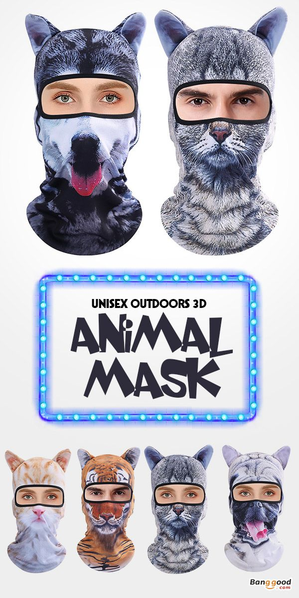 Men Women Outdoor 3D Animal Balaclava Hat Cycling Bicycle Ski Full Face  Mask.  funny  gifts  ideas b5c1f9bcfe