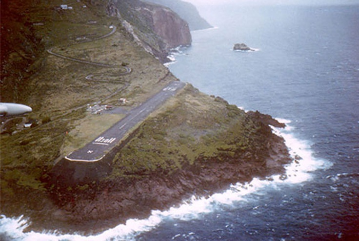 Juancho E. Yrausquin Airport,  Netherlands Antilles -The fact of the ocean all around it and only a 1,300 foot long runway make this one self-explanatory.
