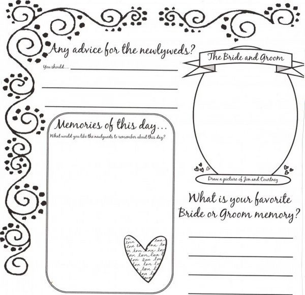 34 Best Images About DYI Printable Wedding Guest Book Alternative Templates On Pinterest