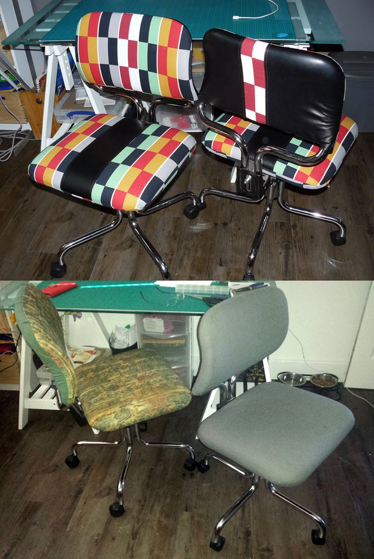 Upholstered office chair!