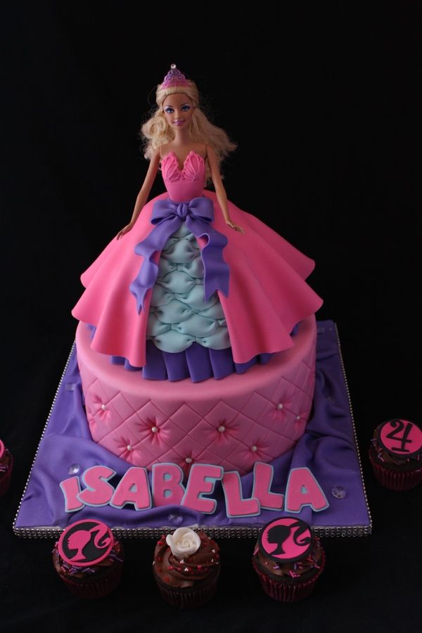 Best Barbie And Other Doll Cakes Images On Pinterest Barbie - Birthday cake doll princess