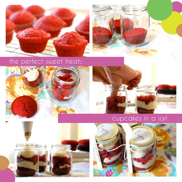 red velvet cupcake in a jar | cupcake inspiration | Pinterest