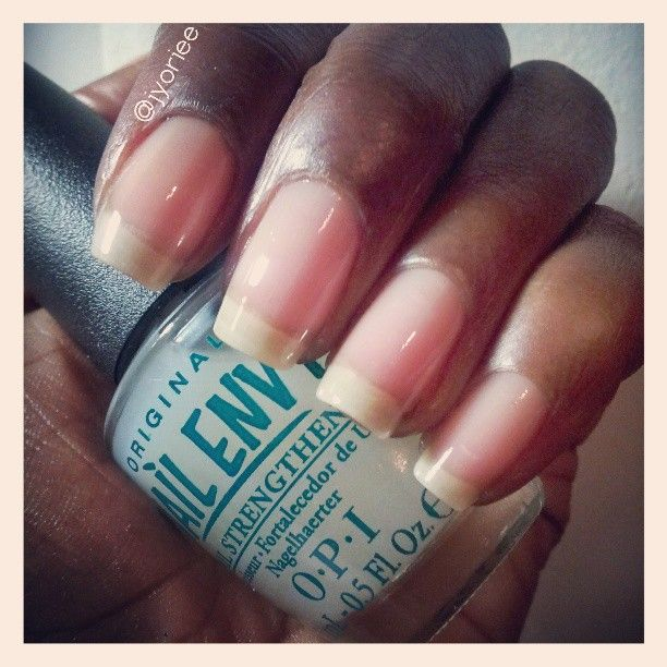 my very own #nekkidnails! no gel, no acrylic, all natural, with @Emily Anton Products nail envy for protection and strength!