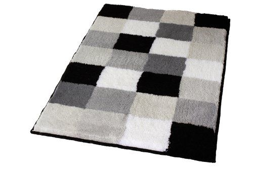 Kleine Wolke Caro 5426926382 Bath Mat 105x60 cm Black Squares Buy this and much more home & living products at http://www.woonio.co.uk/p/kleine-wolke-caro-5426926382-bath-mat-105x60-cm-black-squares/