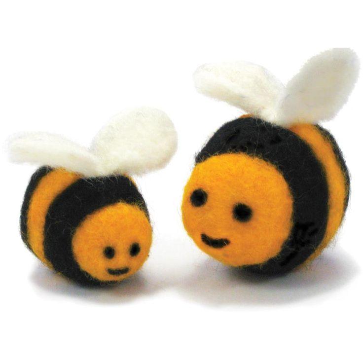 Feltworks Ball Learn Needle Felting Kit-Bees