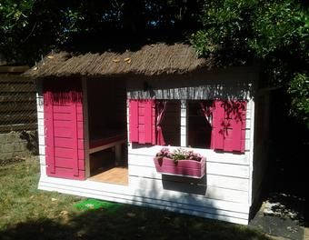 Cabane pour enfant en palettes 6m²  cabane enfant palette                                                                                                                                                                                 Plus