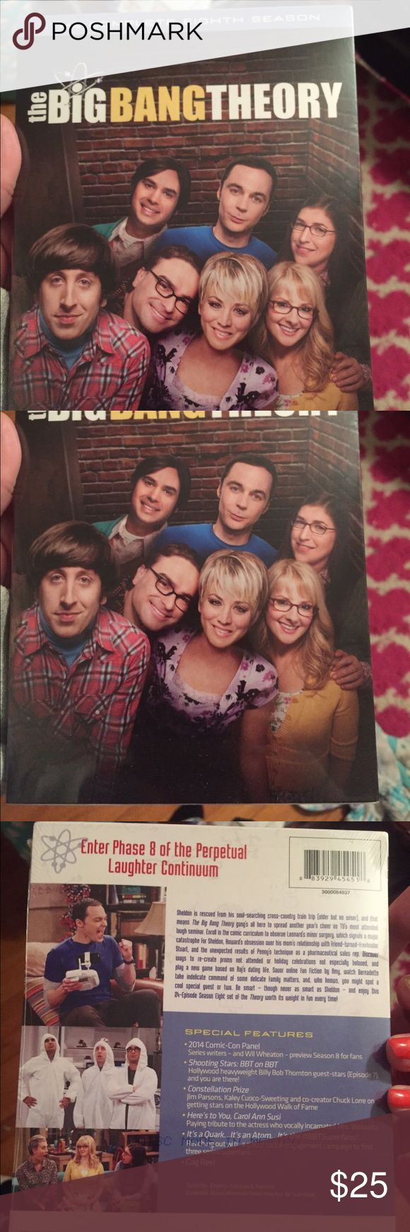 Big Bang Theory Season 8 DVD Set NWT NWT Big Bang Theory complete season 8 DVD set. Still in the package. Other