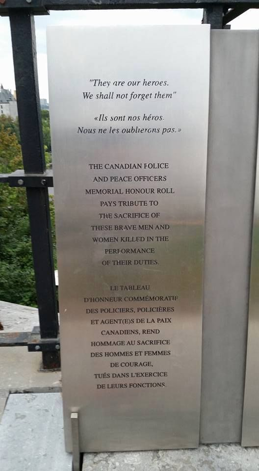 A day to remember fallen police and peace officers in Canada, taking place on the last Sunday in September. Ceremonies take place in Ottawa and the provincial capitals.
