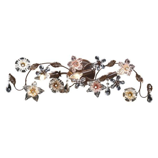 Deep Rust Cristallo Fiore Collection 3-Light Vanity