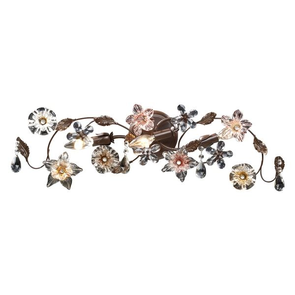 Deep Rust Cristallo Fiore Collection 3-Light Vanity