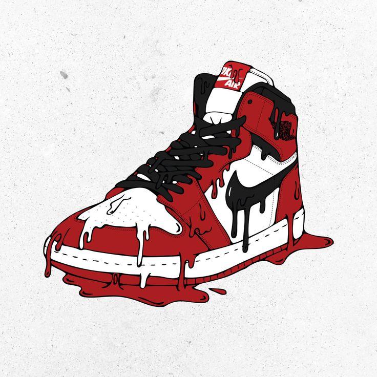 Items similar to Original Air Jordan I Abstract Illustration Poster Print  on Etsy