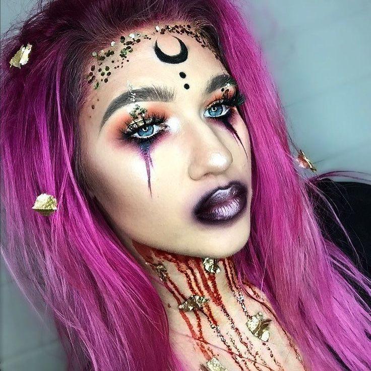 Pin de gaby en Hechicera en 2020 Maquillaje carnaval