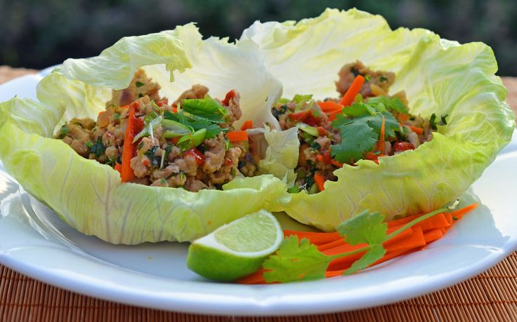 Thai Minced Chicken Lettuce Cups - Once Upon a Chef. Maybe if im really wanting to eat healthy
