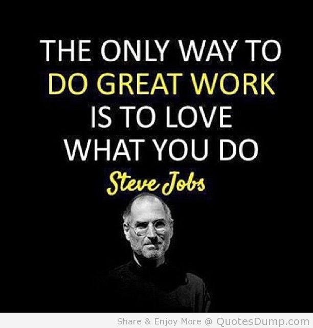 Image result for the only way to do great work