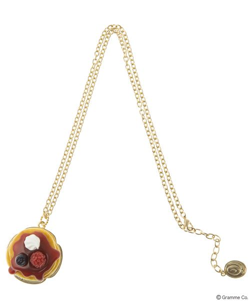 Raspberry Pancake Necklace