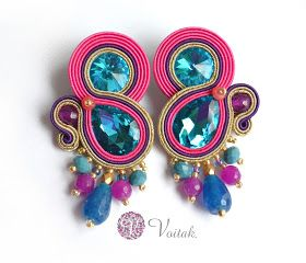 Soutache Jewelry. Artystyczna Biżuteria Autorska Katarzyna Wojtak: #0089 Lido Di Savio. Kolczyki sutasz.