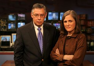 """Juan Gonzalez and Amy Goodman, independent media founders of """"Democracy Now"""", they are combating the corporate media takeover, pursuing truth in journalism, not ratings and maximizing shareholder profits. Who owns YOUR voice?"""