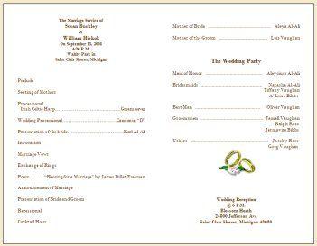 wedding program ideas to go for