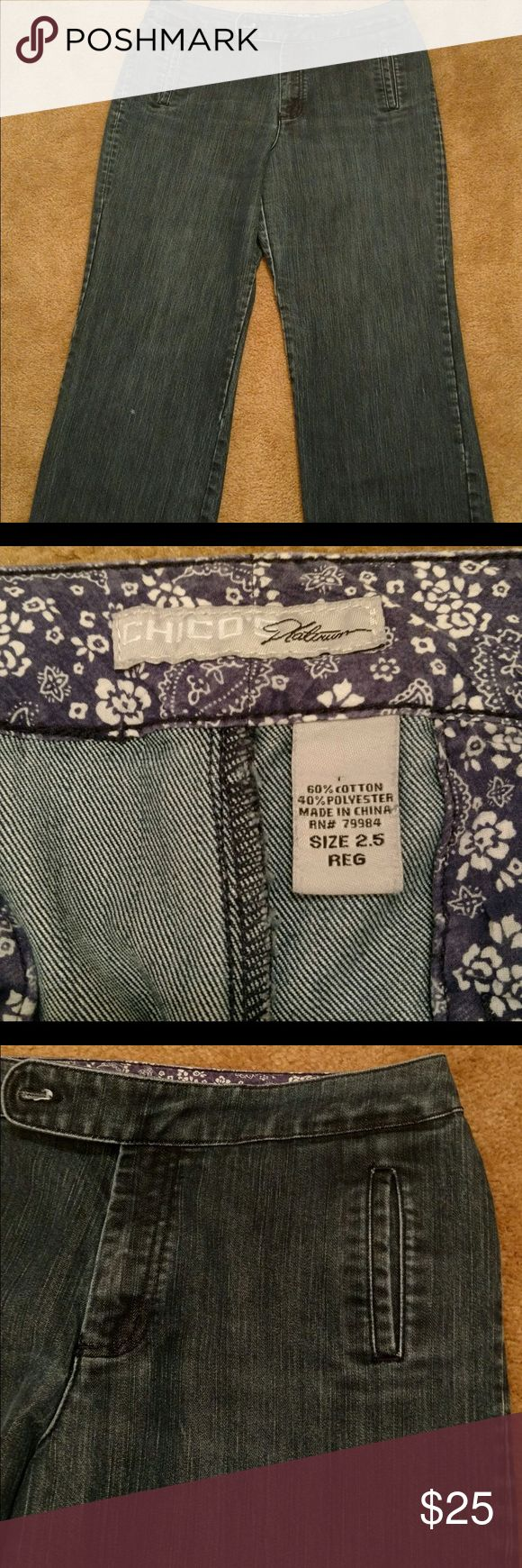 Chico's Platinum Women's Plus Size Jeans Size 2.5 Chico's Size 2.5, very good condition. Make offer! Chico's Jeans Flare & Wide Leg