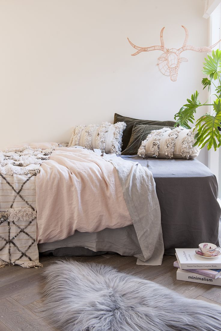 Soft and delicate bedroom styling by Green House Interiors. theguideonline.com.au