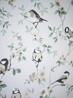 Nice wallpaper for small bathroom or laundry by Mimiblu