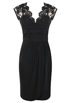 Mother of the Bride idea. Great dress, but I would not choose black, unless its a black and white wedding.