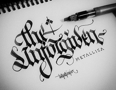 Gothic Calligraphy&Lettering
