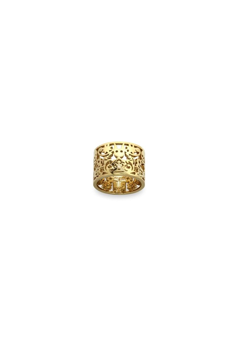 Filigree Ring Gold 15mm