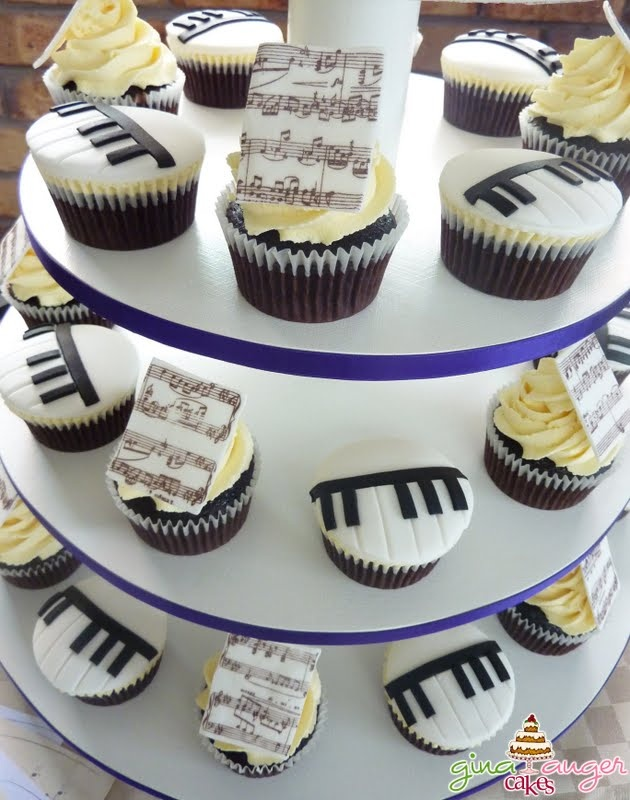 Music cupcakes, would go along nicely with my guitar cookies I can bake with the cookie cutter picked up at the MIM.