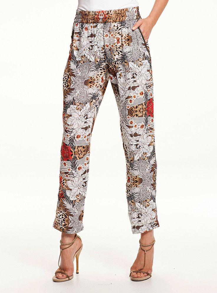 Mela Purdie - Zip Pocket Pant -Aloha Print 1210 F96  #melapurdie  #redworks