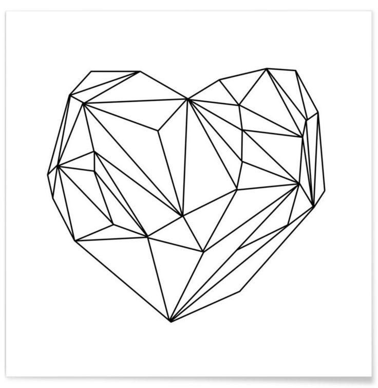 Heart Graphic als Premium Poster door Mareike Böhmer | JUNIQE