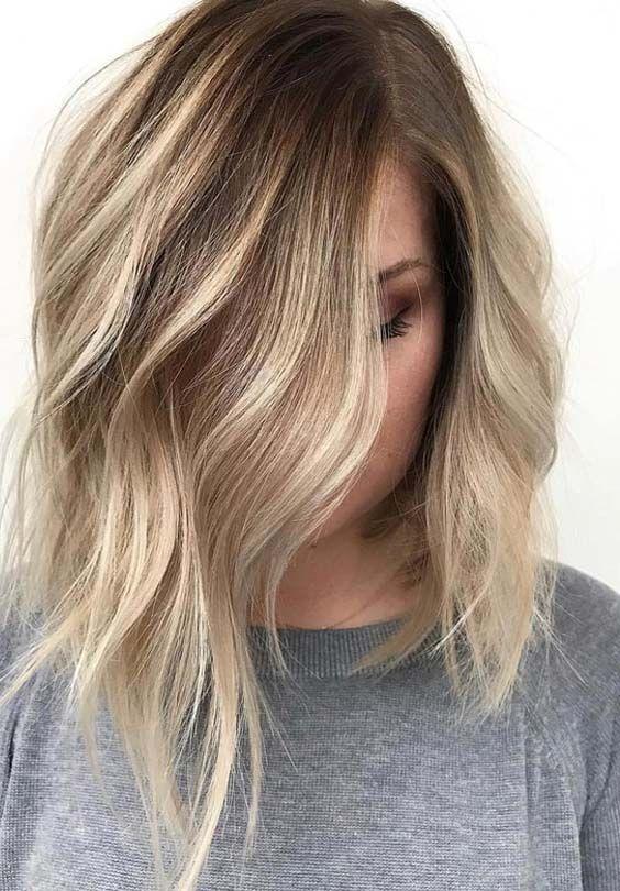44 Hübsche Ideen von Balayage Haarfarben 2018 für Frauen, #balayage #women #ha …